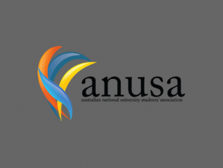 A grey background with the ANUSA logo