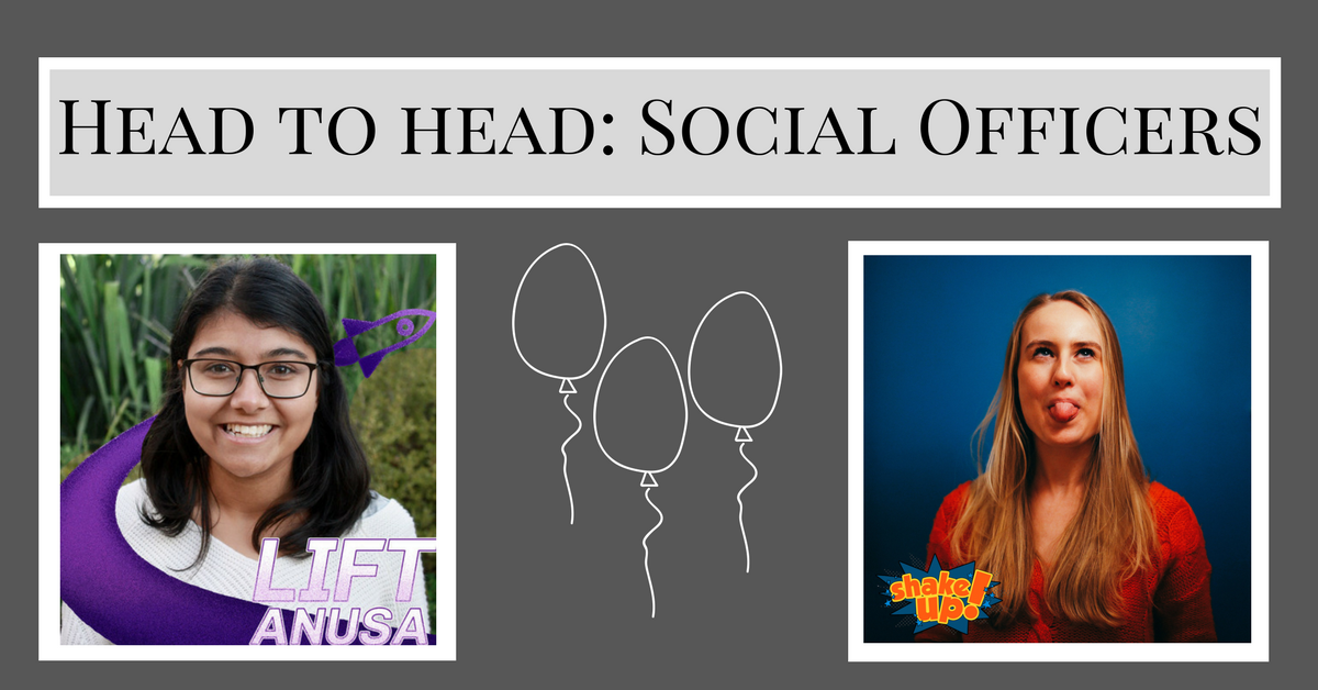 """Pictures of Segaram and Bonan, with """"Head to Head Social Officers"""" at the top"""