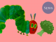 The very hungry caterpillar and a piece of broccoli