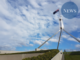 The flag at Parliament House
